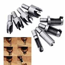 """GS 8pcs Wood Plug Cutter Straight & Tapered Claw Type Cork Drill Bit Cutter Set 5/8"""" 1/2"""" 3/8"""" 1/4"""" Woodworking Cutting Tool"""