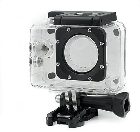 QUMOX Carcasa Resistente Agua para Original Cámara Deportiva SJCAM SJ4000 WiFi SJ-4000 Plus