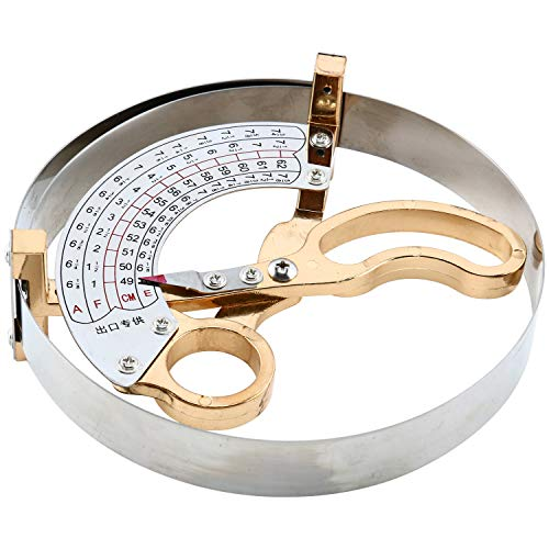 YaeTek Scissor Type Ring Compass Hand Held Milliners Sizer Cap Hat Size Measuring Tools 6 1/8 US to 7 3/4 US