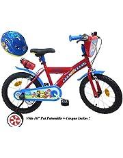 Paw Patrol fietshelm voor jongens, 16 inch, 2 remmen PB/jerrycan achter + fietshelm voor kinderen, meerkleurig, 16 inch
