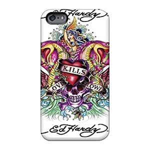 Durable Hard Cell-phone Cases For Apple Iphone 6 Plus (rdJ5017ycoj) Allow Personal Design Colorful Ed Hardy Pattern