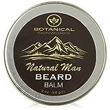 Natural Man Original Beard Balm with Jojoba and Argan Oils - All Natural Beard Conditioner By Botanical Skinworks, 2 Ounce