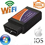 OBD2 Scanner Wifi Car Code Reader Diagnostic Check Tool for IOS Android and Windows Device