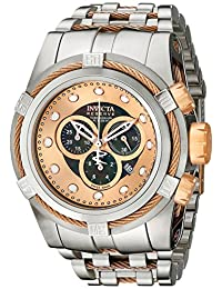 Invicta Men's 0823 Bolt Reserve Chronograph Black Dial Stainless Steel Watch