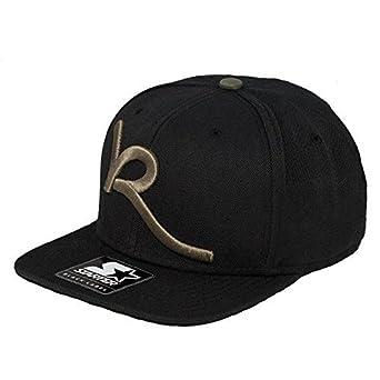 ROCAWEAR MENS BOYS SNAPBACK CAPS FLAT PEAK BASEBALL HIP HOP TRUCKERS (Black  Olive - One 38ba173a37a
