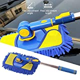 Gorge-buy Car Wash Mop Long Handle - Car Wash Mop with Extension Pole, Soft Microfiber Chenille Brush Retractable Rotating Brush, Telescopic Car Cleaning Tool Not Hurt Paint