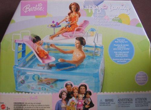 Barbie Happy Family Splash 'n Slide Pool Playset (2003 Mattel Canada) (Playsets Canada)