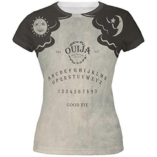 Ouija Dress Adult Womens Costumes (Halloween Ouija Board Costume All Over Juniors T-Shirt - Medium)