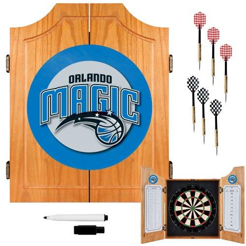 NBA Orlando Magic Wood Dart Cabinet Set by Trademark Gameroom