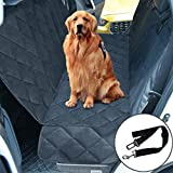 "THSITY Dog Car Bench Seat Cover, Pet Car Seat Protector for Trucks & SUVs, Nonslip & Waterproof Hammock Convertible, Easy Clean, 54"" * 58"" (Black)"