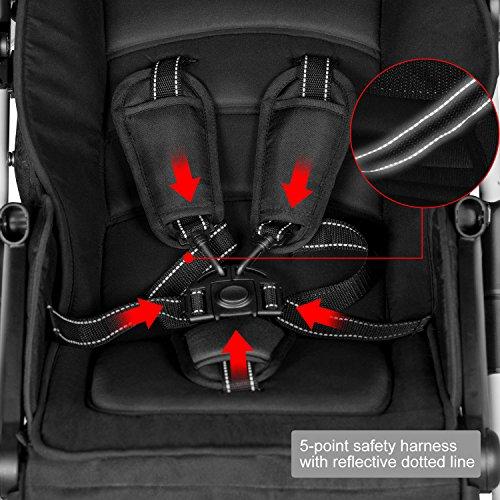 Besrey Lightweight Foldable Baby Stroller - Gray by besrey (Image #5)