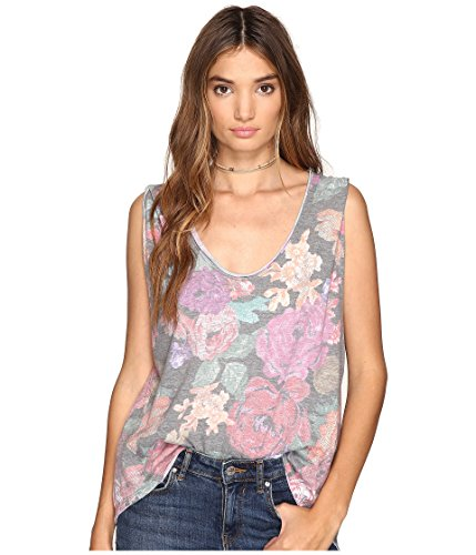 We The Free Womens Floral Print Sleeveless T-Shirt Multi S