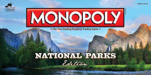 (MONOPOLY: National Parks Edition Board Game | Trek Across America's Favorite National Parks | Custom Monopoly Game Board & Tokens | Portion of Proceeds Support the National Park Foundation)