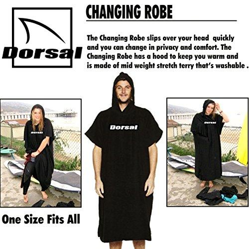 Dorsal Surf Changing Poncho Robe Towel - Black