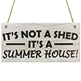Wood Sign Decor It's Not A Shed It's A Summer House Hanging Sign Wooden Wall Plaque