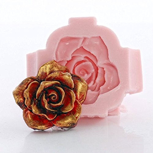 Rose Silicone Mold Food Safe Fondant, Chocolate, Candy, Resin, Polymer Clay, Jewelry, Craft Mold