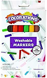 Colorations Classic Markers, Conical Tip, 8 Bold Colors, Coloring, Paper, Kids, Posters, Drawing, Bold Colors,