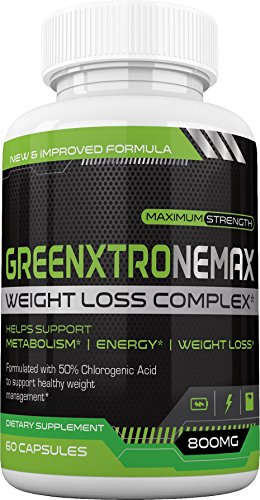 GreenxtroneMax Weight Loss Complex - Superhuman Fat Loss All Natural Green Coffee Bean Supplement w/Green Coffee 4:1 Extract and Standardized 50% Chlorogenic Acid - Boost Energy, Burn Fat, Lose Weigh