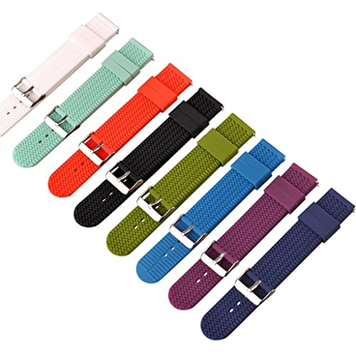 Ritche 22mm Quick Release Watch Bands Soft Silicone Rubber replacement Watch strap