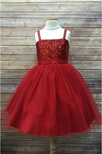 Red Sequin Sparkle Dress - Petite Adele 12 mths