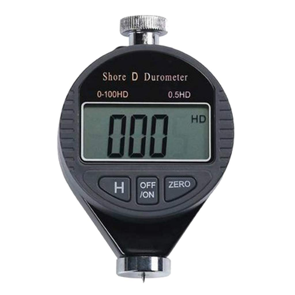 B Blesiya Accurate Digital LCD Display Shore A/C/D Hardness Durometer Rubber Hardness Tester - D