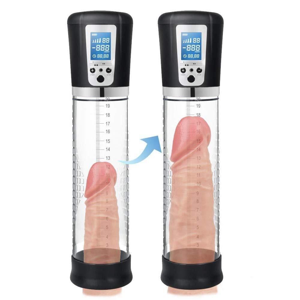 WJMMBD Men's Tshirt USB Vacuum Pump Penǐsgrowth Pump Boost in Size for Dǐldo Men's Delay Trainer
