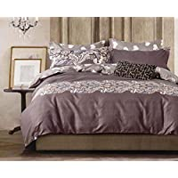 Gifty Glace Cotton Double Luxurious Reversible Combo of Comforter and Bedsheet with 2 Pillow Covers, Queen Size(Grey)