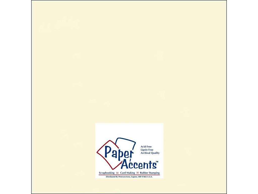 Accent Design Paper Accents Cdstk Smooth 12x12 65# Cream Bulk