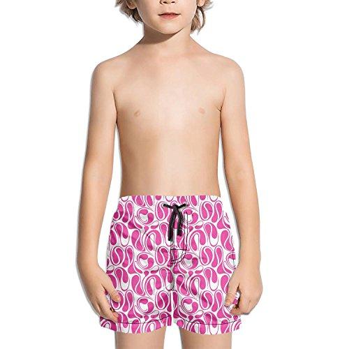Lenard Hughes Boys Quick Dry Beach Shorts with Pockets Pink camo Wedding Swim Trunks for Summer by Lenard Hughes