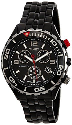 Timex E Class Chronograph Black Dial Men #39;s Watch   T2M758