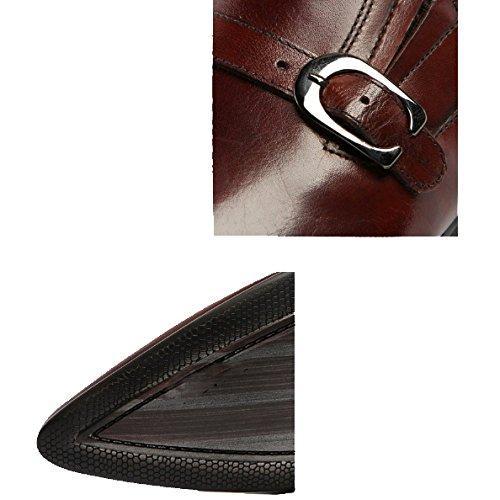 Sposa Scarpe Traspiranti Comode Scarpe Punta Moda E Indossabili Coreana Brown Versione Affari A Pigre da aS4vHw