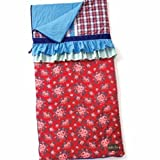 Matilda Jane Sleeping Bag/blanket Clothing Bed of Roses Ruffled Sleeping Bag Blanket