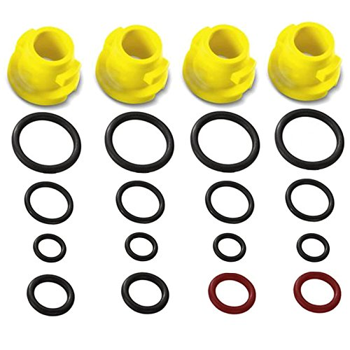 Tracer Patio Cleaner - Karcher Pressure Washer O-Ring Nozzle Set (Fits: K1 K2 K3 K4 K5 K6 K7 T250 T-Racer)