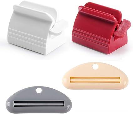 2pcs Durable Zahnpasta Tube Squeezer Wringer Roller Dispenser Weiß