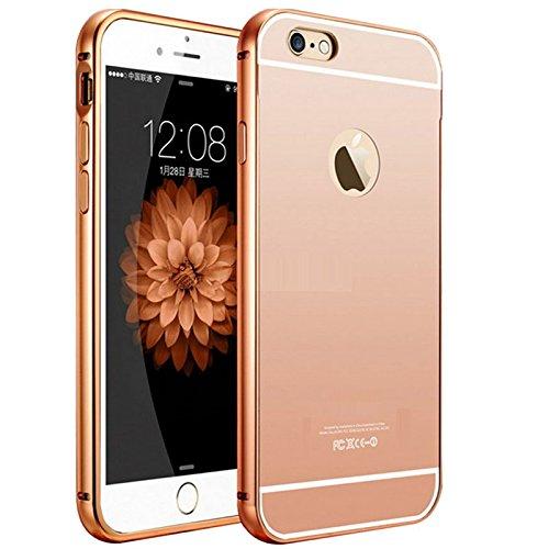 105 opinioni per Semoss Premium Bling Gliter Alluminio Custodia in Specchio per Apple iPhone SE /