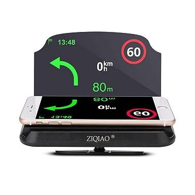 Soporte de navegación universal para coche HUD con proyector para teléfono inteligente y GPS