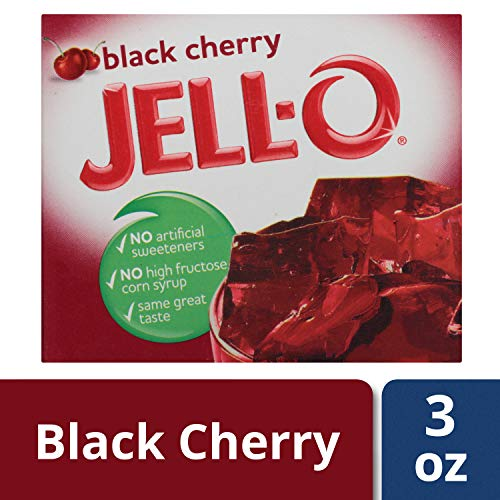 Jell-O Black Cherry Gelatin Dessert Mix, 3 oz ()