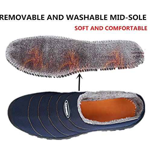 Indoor Slippers ASOFTA Winter Snow House Outdoor Women Slip Shoes On Men wx0wq6fHB