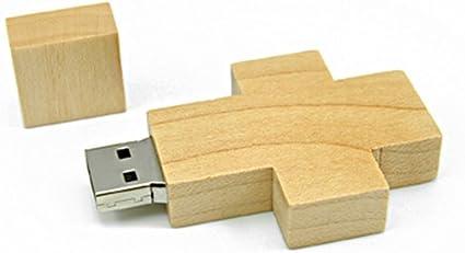 FEBNISCTE 16GB USB 2.0 Pendrive Forma de Cruz de Madera USB Stick: Amazon.es: Electrónica