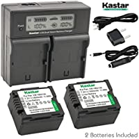 Kastar LCD Dual Smart Fast Charger & 2 x Battery for Panasonic VW-VBG130 and AG-AC7, AG-AF100, HMC40, HMC80, HMC150, HDC-HS250, HS300, HS700, SD600, SD700, HDC-SDT750, HDC-TM300, HDC-TM700, SDR-H80