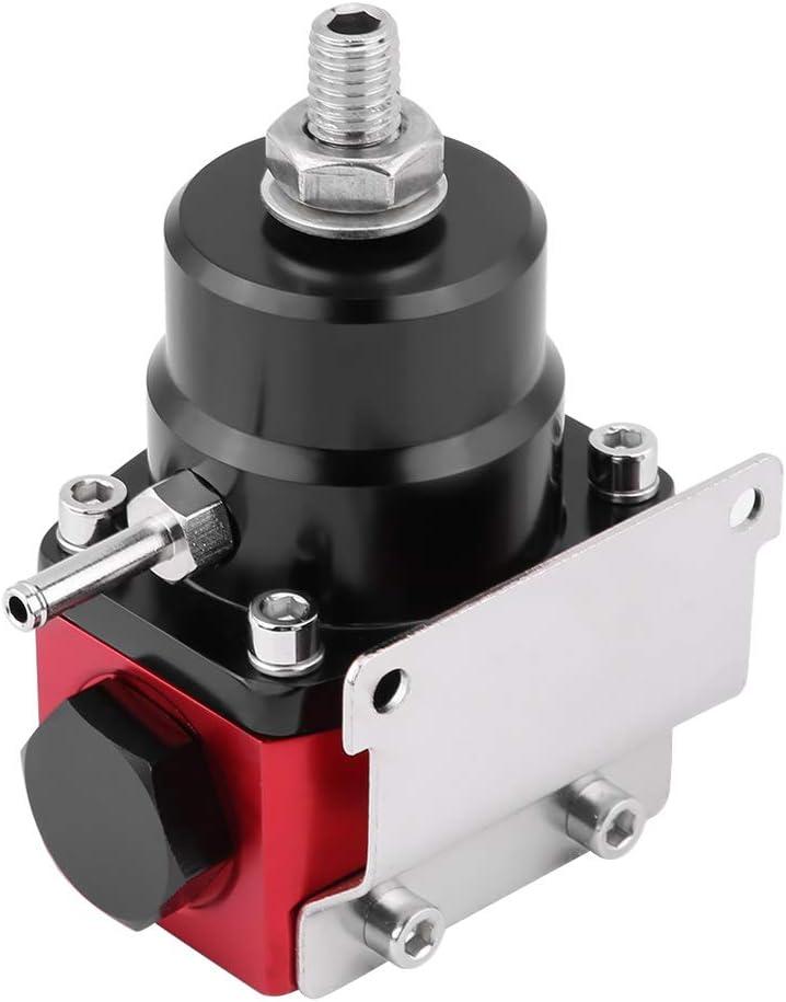 EVGATSAUTO Kit de regulador de presi/ón de combustible ajustable universal Indicador de aceite 0-100psi AN 6 Regulador de presi/ón de combustible de extremo de montaje