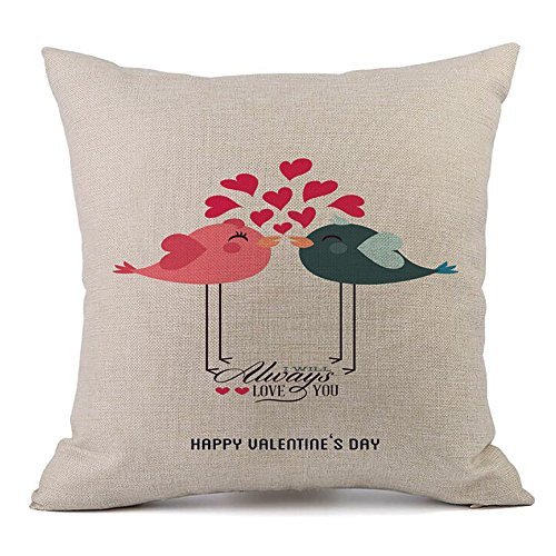 Lover Pillow Case Pgojuni Home Decor Waist Throw Cushion Cover for Sofa/Couch 1pc -