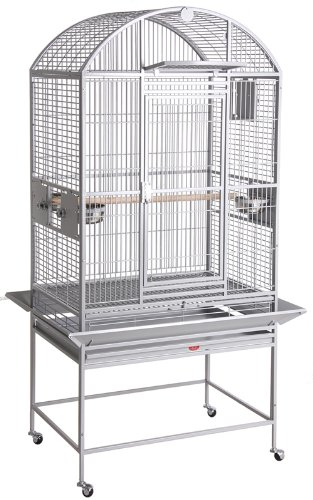 BirdsComfort HQ Dometop Cockatiel Bird Cage with Drop Door 24x22 - (Hq Cage Dome Top)