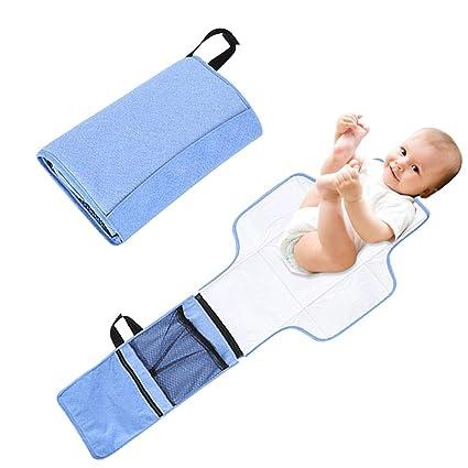 Juan_Diape Almohadilla de Cambio Bebé Portátil Pañal de Viaje Kit de Embrague Ligero Cambiador para Bebé