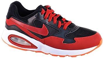 grande vente 0ff12 f18d1 Nike Air Max St (GS) Chaussures, Noir/Rouge/Blanc, Homme ...