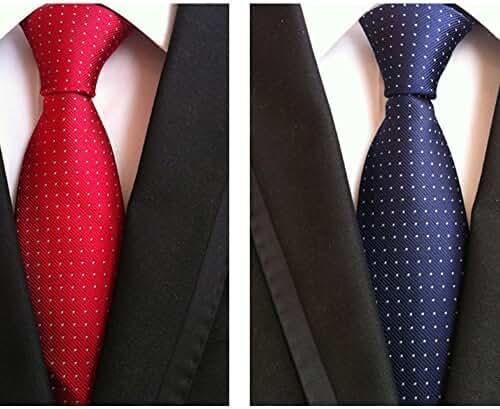Classic Men's Tie Necktie Woven JACQUARD Neck Ties 2 PCS t-04