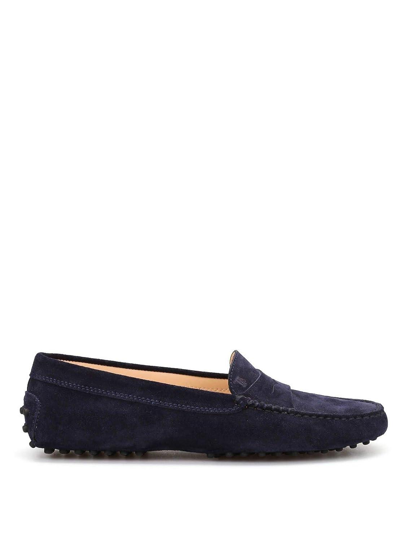 - Tod's Women's XXW00G00010RE0U824 bluee Suede Loafers