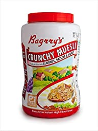 Bagrry\'S 1 Crunchy Muesli Crunchy Oat Clusters With Almonds,Raisins & Honey , 1000G