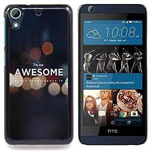 For HTC Desire 626 & 626s - Awesome Grey Lights Bubble Blurry Fog Message /Modelo de la piel protectora de la cubierta del caso/ - Super Marley Shop -