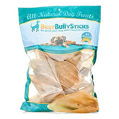 100% Natural Cow Ear Dog Treats by Best Bully Sticks (15 Pack)